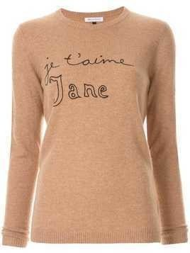 Bella Freud Je T'Aime Jane Jumper - BISCUIT