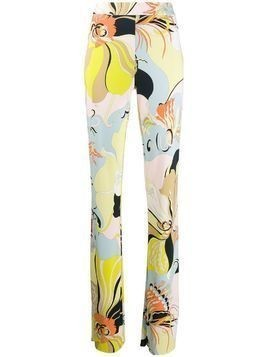 Emilio Pucci Mirabilis print flared trousers - Yellow