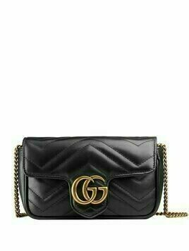 Gucci GG Marmont matelassé leather mini bag - Black