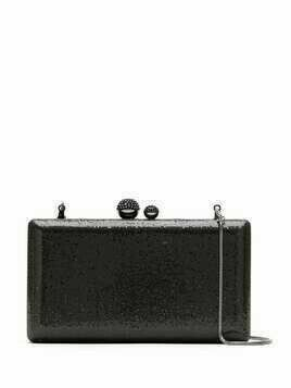 Isla glitter clutch bag - Black