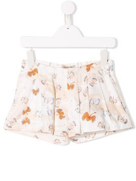 Hucklebones London butterfly embroidered shorts - Neutrals