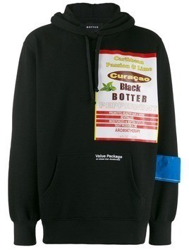 Botter printed detail hoodie - Black