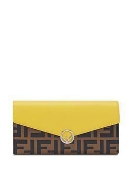 Fendi monogram print wallet - Brown