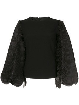 Isabel Sanchis circular sleeve top - Black