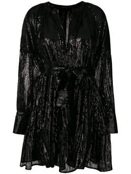 Wandering sequined mini dress - Black