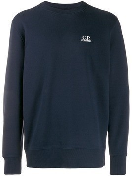 CP Company embroidered logo sweatshirt - Blue