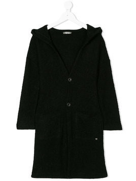 Miss Grant Kids long hooded cardigan - Black
