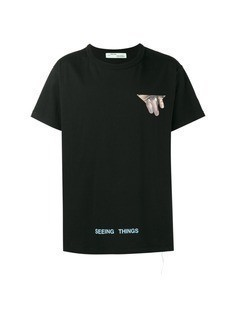 Off-White Eyes printed t shirt - Black