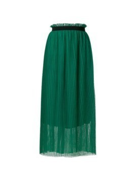 Isabelle Blanche pleated midi skirt - Green