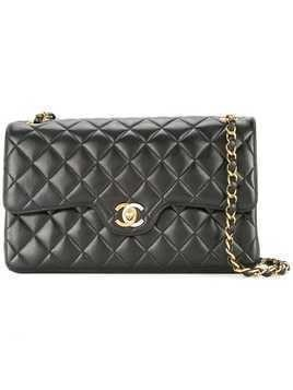 Chanel Pre-Owned 1994-1996 Chanel quilted double flap chain shoulder bag - Black