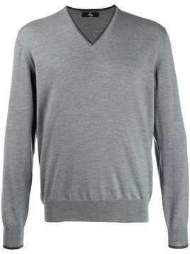 Fay elbow patch pullover - Grey