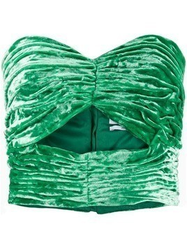 Attico strapless cropped top - Green