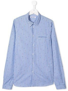 Dondup Kids TEEN dotted striped shirt - Blue