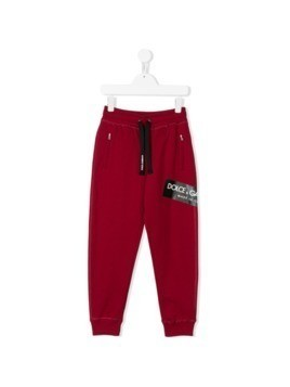 Dolce&Gabbana Kids logo print track trousers - Red