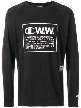 Champion X Wood Wood logo long sleeve T-shirt - Black