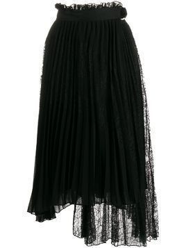Ermanno Ermanno pleated asymmetric skirt - Black