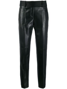 Ermanno Scervino leather effect trousers - Black