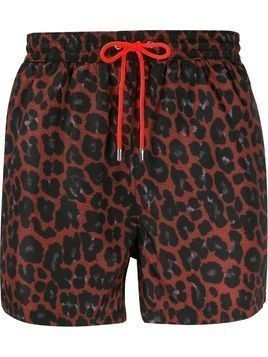 Paul Smith leopard print swim shorts - Red