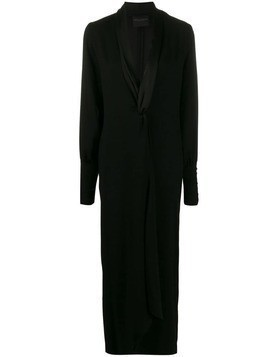Erika Cavallini draped maxi dress - Black