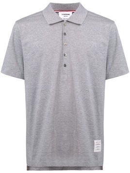 Thom Browne button polo shirt - Grey