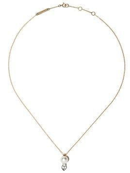 Delfina Delettrez 18kt white and yellow gold Two in One diamond necklace - Yellow Gold/White Gold