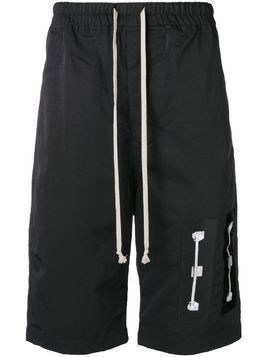 Rick Owens DRKSHDW drawstring patch-detail shorts - Black