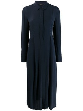 Les Copains shirt midi dress - Blue