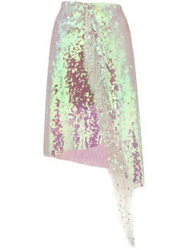 Circus Hotel sequin asymmetric skirt - Pink