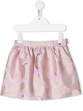 Hucklebones London gathered flower-print skirt - Pink