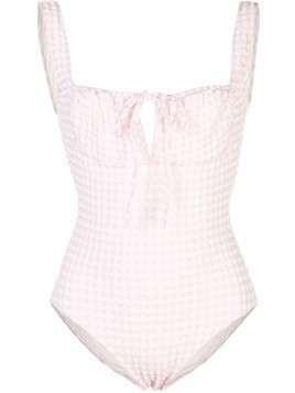 Solid & Striped The Ellery gingham swimsuit - Pink