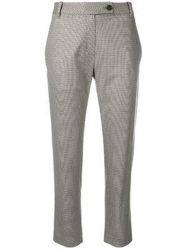 6397 houndstooth print trousers - Grey
