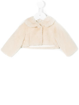 Il Gufo faux fur cropped jacket - Nude & Neutrals