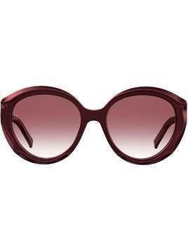 Elie Saab round frame sunglasses - Red