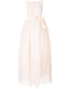 Huishan Zhang Beau feather-trimmed gown - Pink