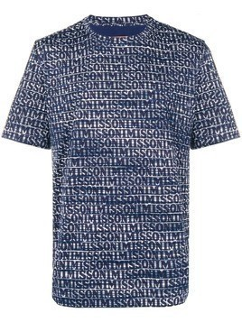 Missoni logo short-sleeve T-shirt - Blue