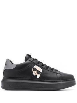 Karl Lagerfeld Ikonik patch low-top sneakers - Black