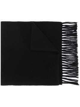 Vivienne Westwood embroidered logo fringed scarf - Black