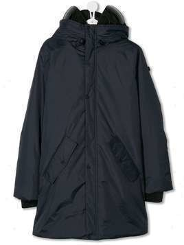 AI Riders on the Storm TEEN lens integrated padded parka - Blue