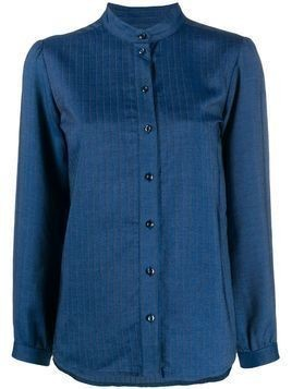 A.P.C. pinstriped shirt - Blue