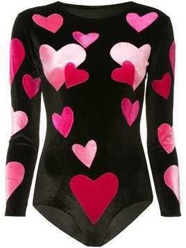 Alexia Hentsch stretch love heart top - Black