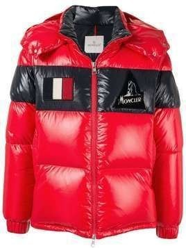 Moncler logo patch padded jacket - 455