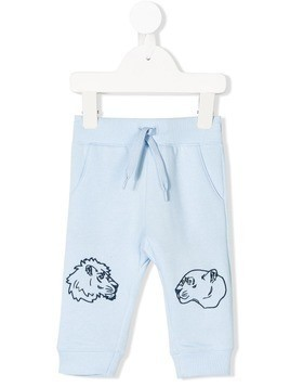 Kenzo Kids lion embroidered track pants - Blue