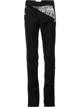 Monse buttoned laterals straight trousers - Black