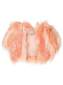 Isabel Sanchis reversible feather bolero - Pink