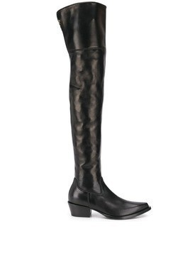 Ermanno Scervino thigh-high cowboy boots - Black