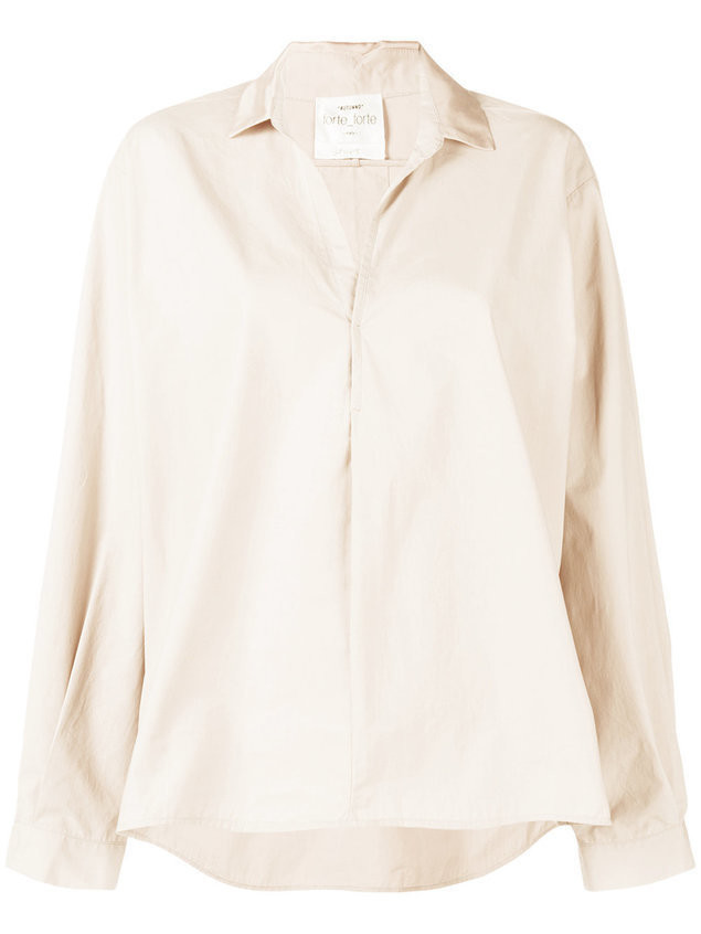 Forte Forte oversize loose blouse - Nude & Neutrals