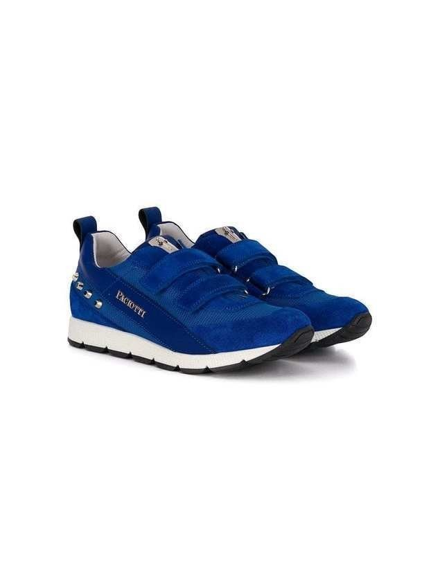 Cesare Paciotti Kids studded sneakers - Blue