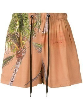 Duo tropical track shorts - Neutrals