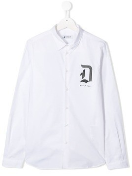 Dondup Kids TEEN chest logo shirt - White