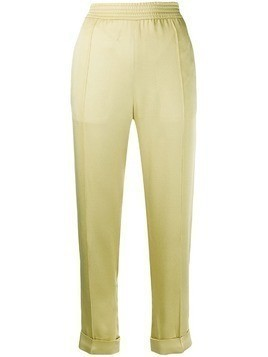 Haider Ackermann polished effect trousers - Yellow